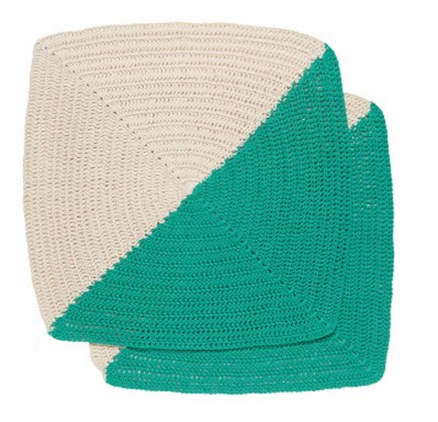Dishcloth | Crochet | Angle Sea Green