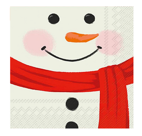 Cocktail Napkins | Snowman Face