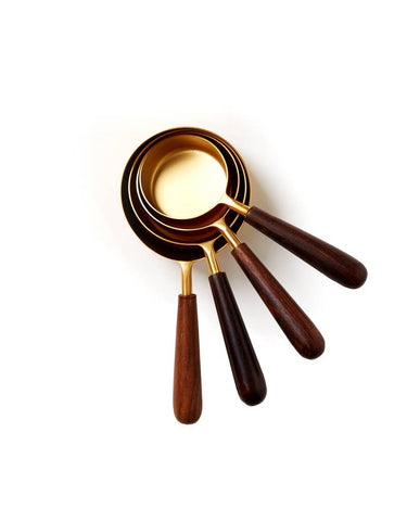 Measuring Cups | Wood + Gold