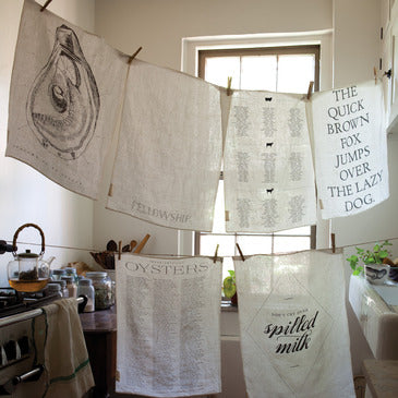 Printed Linen Tea Towel