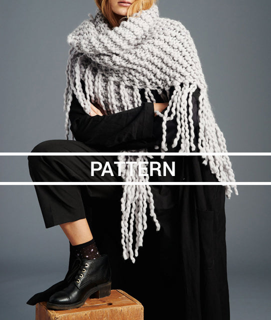 Knitting Pattern // Her Fringe Shawl
