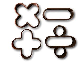 Math Signs and Symbols Cookie Cutters (Set of 4)