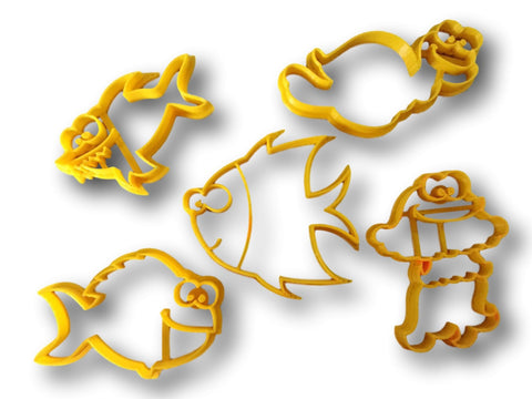 Ocean Creartures Cookie Cutter - Arbi Design - CookieCutz - 1