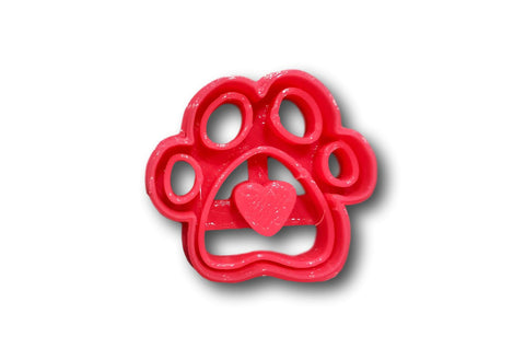 "Dog paw with heart imprint (1.5"" size) cookie cutter"