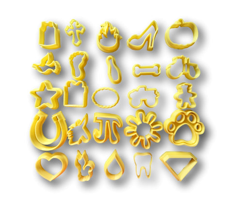 Miniature Cookie/Fondant Cutters (Set of 25)