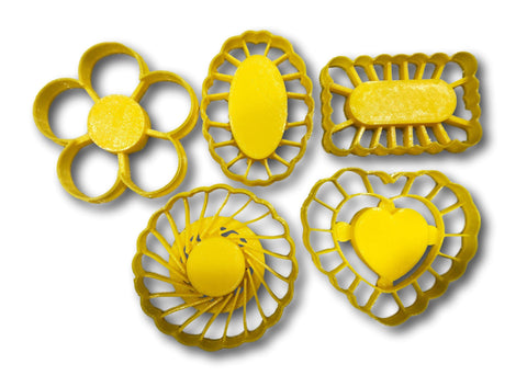"Thumbprint Shaped Cookie Cutters (Set of 5 Cutters, 2.5"" each)"