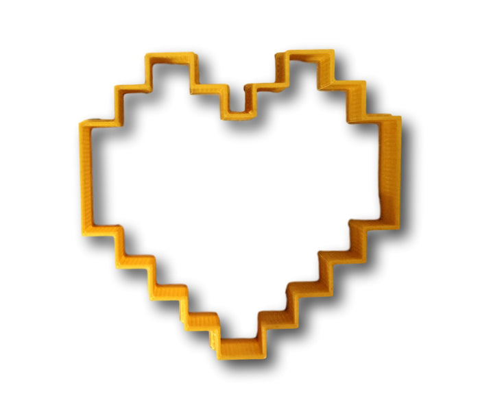 8-bit heart cookie cutter
