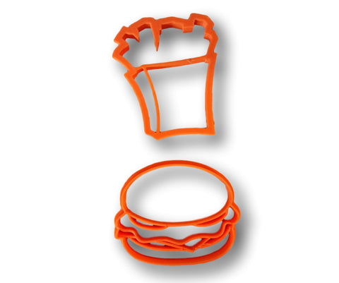Burger and Fries Cookie Cutter (Set) - Arbi Design - CookieCutz - 1