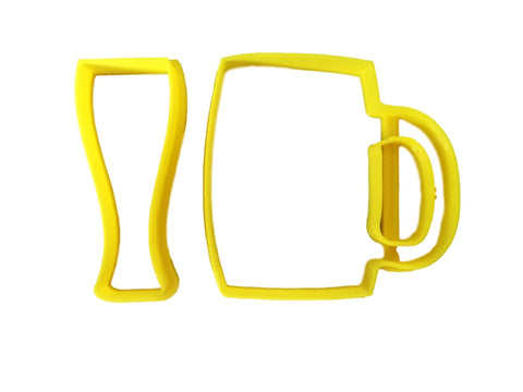 Beer Glasses Set Cookie Cutter - Arbi Design - CookieCutz - 1
