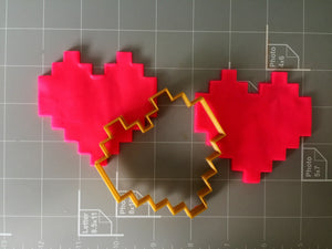 8-bit heart cookie cutter - Arbi Design - CookieCutz - 3
