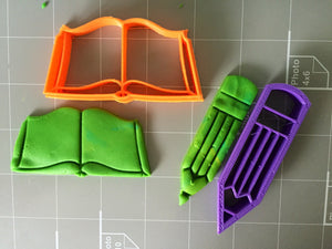 Book and Pencil Cookie Cutter - Arbi Design - CookieCutz - 3