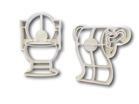 Toilet and Toilet Paper Cookie Cutter Set