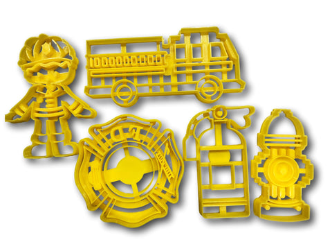Firefighters Cookie Cutters (Set of 5)