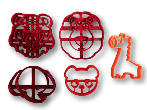 Zoo Themed Cookie Cutters ( Set of 5 )
