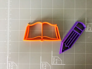 Book and Pencil Cookie Cutter - Arbi Design - CookieCutz - 4