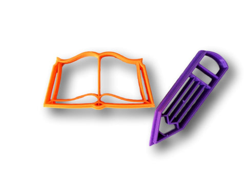 Book and Pencil Cookie Cutter - Arbi Design - CookieCutz - 1