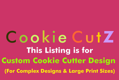 Custom Cookie Cutter Design Based on Your Sketch, Picture, Logo, Or Artwork For Complex Designs & Large Sizes - Very Fast Turnaround Time - Arbi Design - CookieCutz