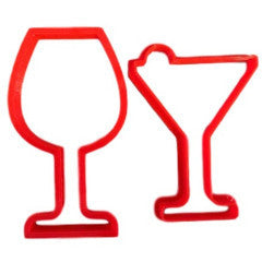 Wine and Margarita Glasses Cookie Cutter - Arbi Design - CookieCutz - 1