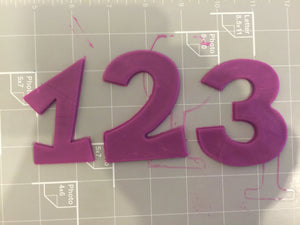 Numbers One, Two, Three, Cookie Cutter Set - Arbi Design - CookieCutz - 4