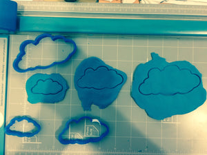 Clouds Cookie Cutter -  pick your own size - Arbi Design - CookieCutz - 2