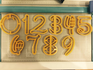 Number zero to Nine all Numbers in Comic Font Cookie Cutter - 10 items - Beautiful set - Arbi Design - CookieCutz - 6