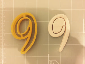 Number zero to Nine all Numbers in Comic Font Cookie Cutter - 10 items - Beautiful set - Arbi Design - CookieCutz - 5