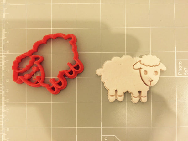 Cute sheep cookie cutter animal cookie cutter arbi for Cookie cutter house plans