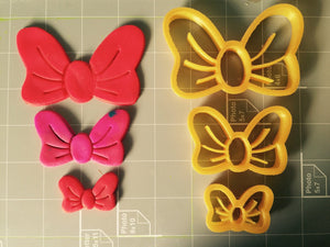 Lovely Bow Cookie Cutter - Choose Your Size - Arbi Design - CookieCutz - 2