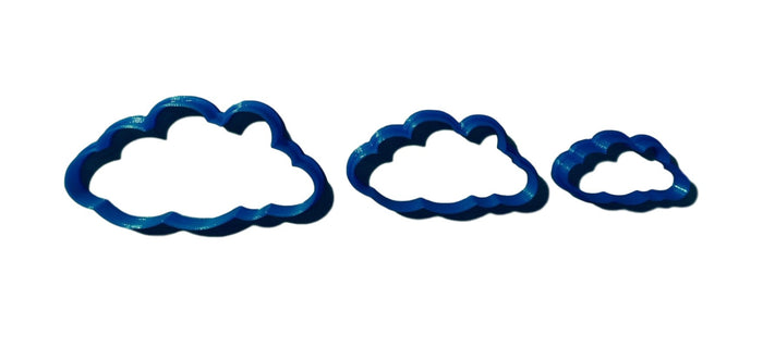 Clouds Cookie Cutter -  pick your own size