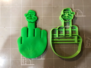 Middle Finger Cookie Cutter - Santa Versian
