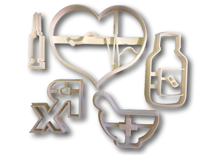 Medical Supplies (First Aid) Cookie Cutters (Bundle)
