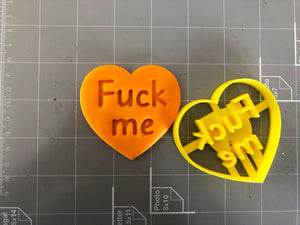 Fuck me in Heart Cookie Cutter