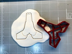 High five/Praying hands Cookie Cutter