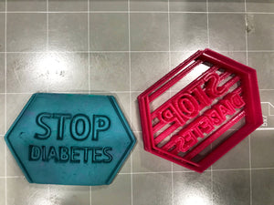 Stop Diabetes Cookie Cutter