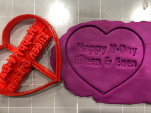 Personalized Valentine Day Heart Cookie Cutter