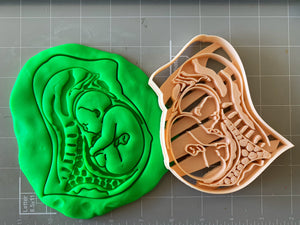 Pregnant womb fetus anatomy Cookie Cutter