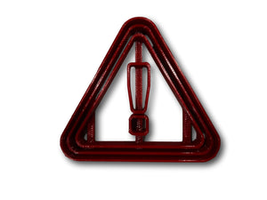 Caution Sign Cookie Cutter