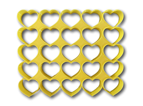 "25x1"" size heart shape multi cutter"