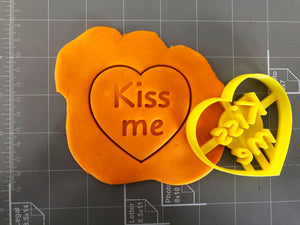 Kiss me in Heart Cookie Cutter