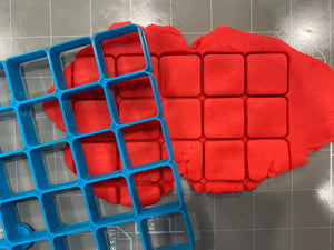 "25x1"" Size Square Multi Cookie Cutter with Round Corners (5 x 5 in )"