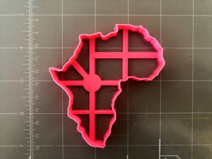 Africa Map Cookie Cutter