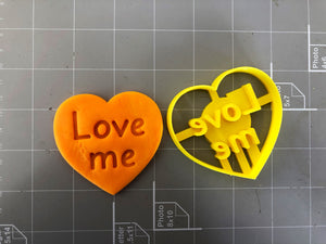 Love me in heart Cookie Cutter