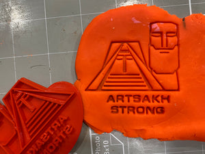 Artsakh Flag Cookie Cutter and Mamig Babig Stamp / Artsakh Strong Stamp ( Set of 2 )