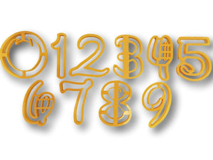 Number zero to Nine all Numbers in Comic Font Cookie Cutter - 10 items - Beautiful set - Arbi Design - CookieCutz - 1