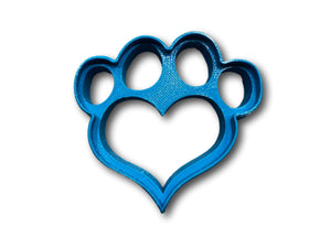 Heart Shape Dog Paw Cookie Cutter