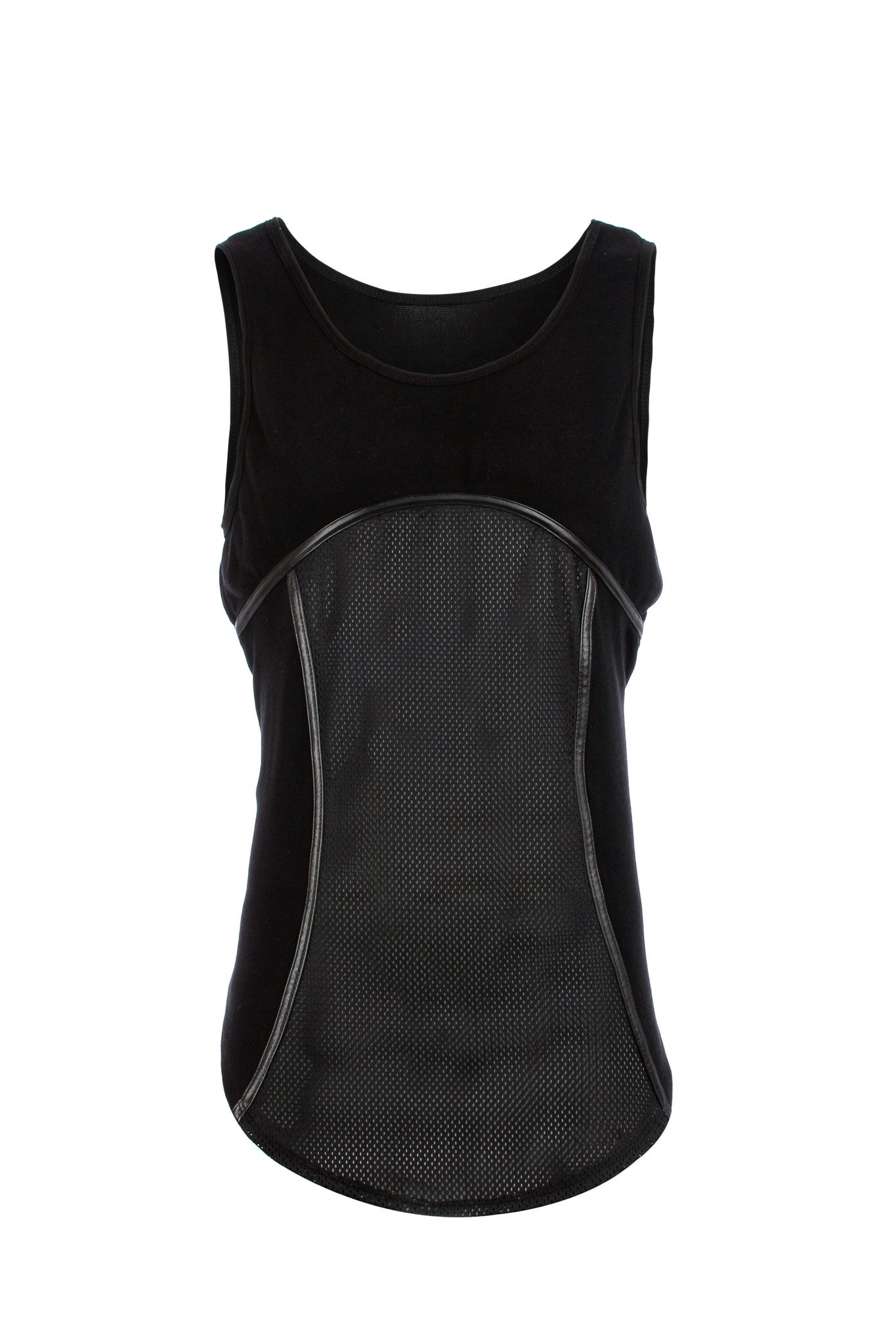 Mesh and leather tank
