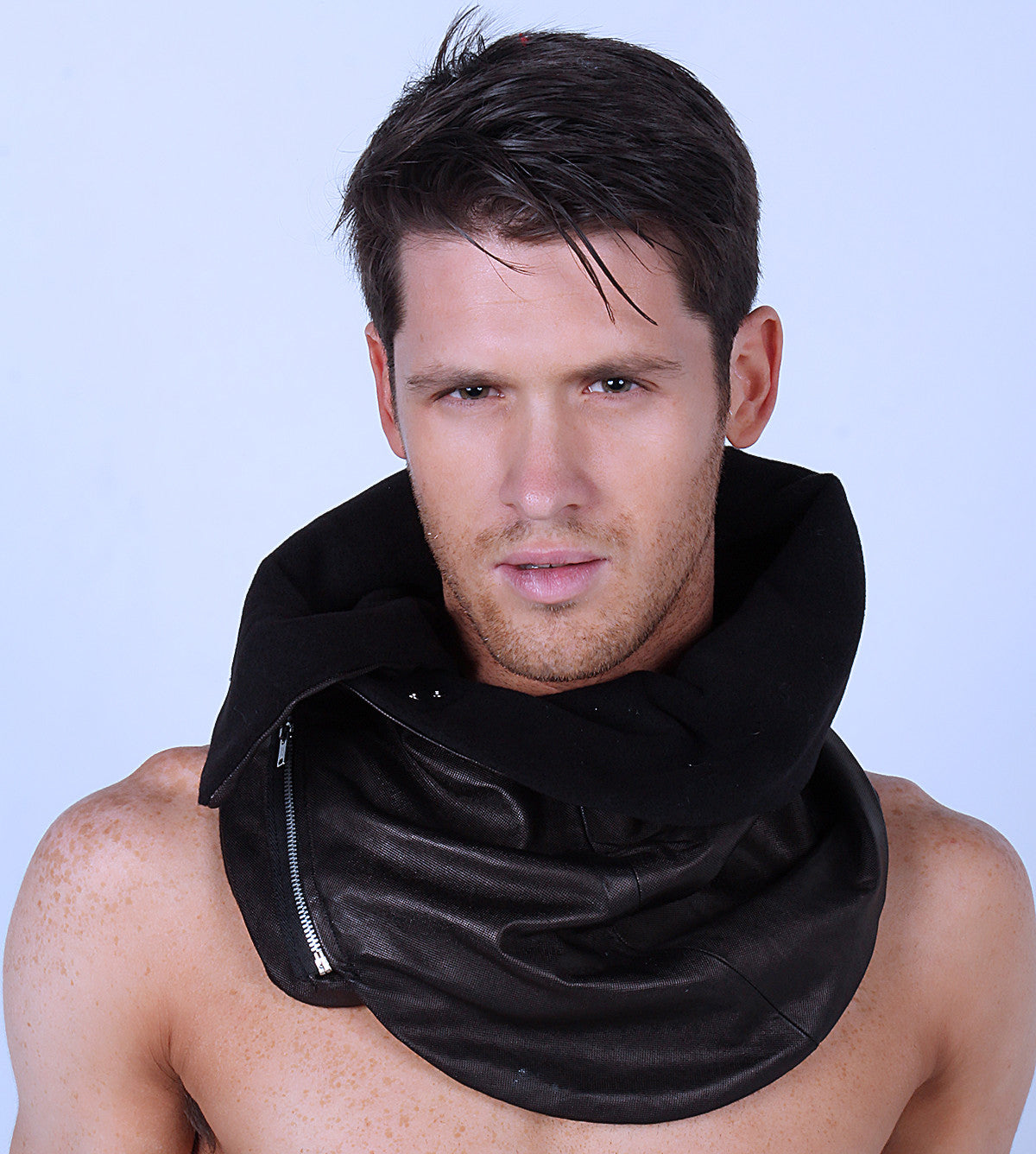 Genuine Lambskin leather scarf