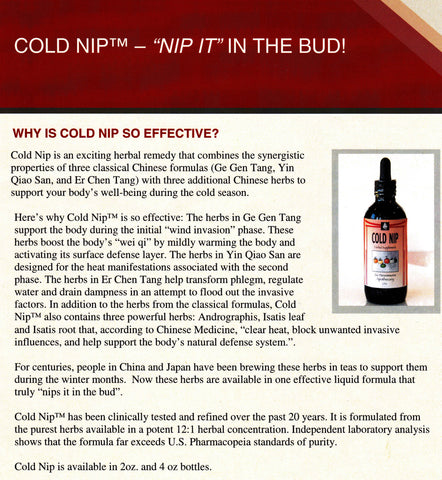 Cold Nip By Six Persimmons Apothecary - An All Natural Cold and Flu Remedy