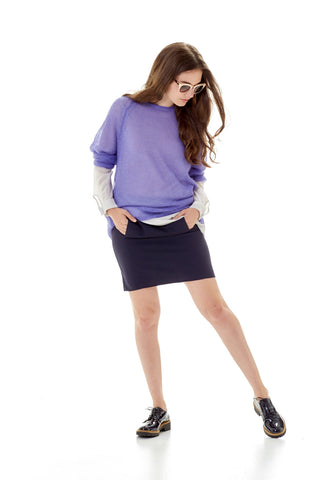 Ira Skirt in dark blue colour