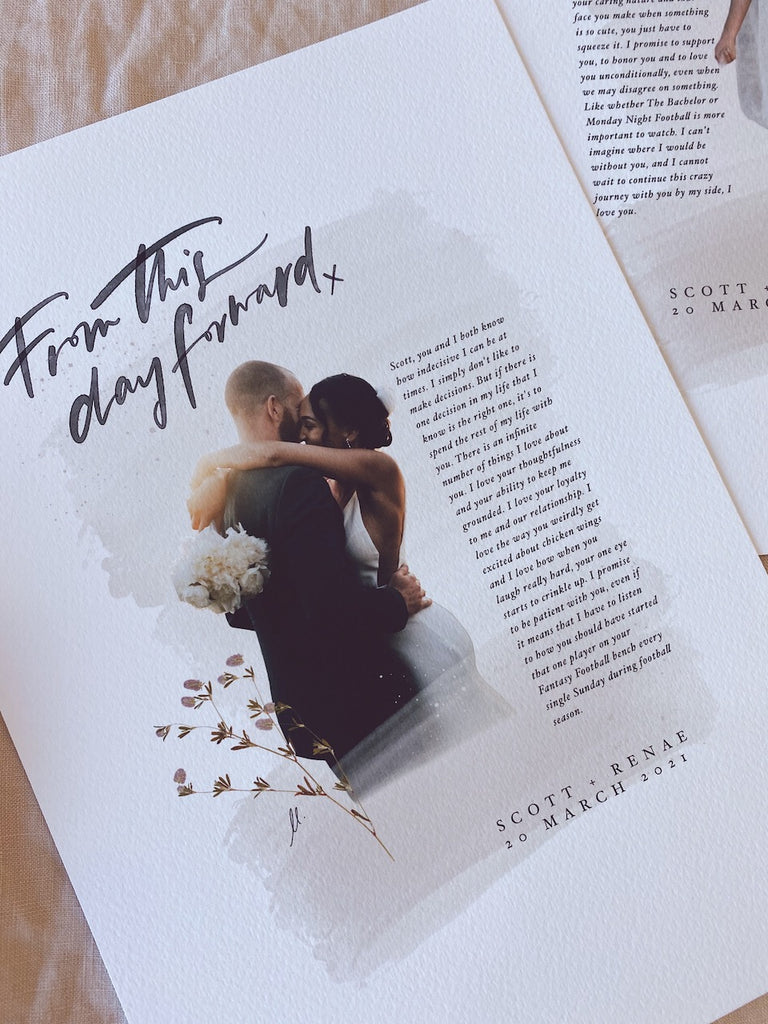 VOWS MOMENTS PRINT